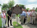 Group with the Historic Marker