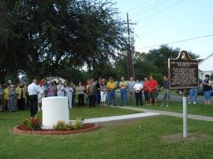 World War II POW Camp Historical Marker ceremony